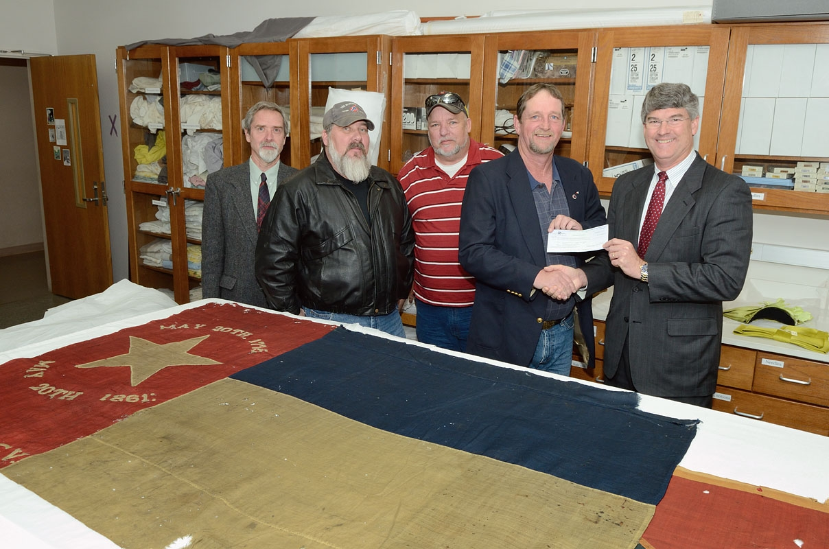 Sons of Confederate Veterans Funds Conservation of Another Battle Flag at Museum of History