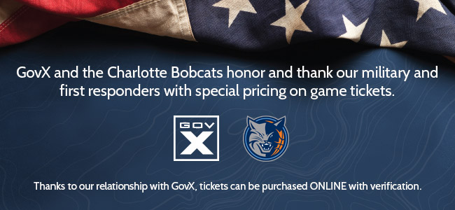 Charlotte Bobcats Join Forces With GovX To Honor Military And First Responders