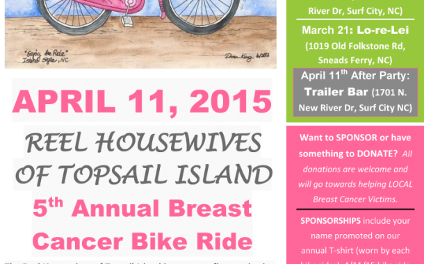 Reel Housewives of Topsail Island 5th Annual Breast Cancer Bike Ride