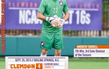 No. 5 Clemson Tigers Blank Gardner-Webb on the Road Tuesday